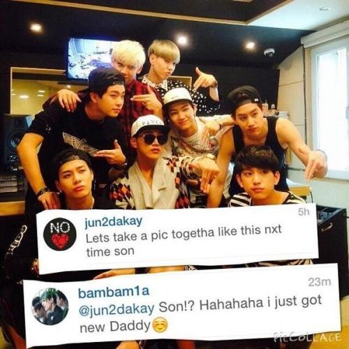 """Đàn anh 2PM cũng không ngần ngại gọi GOT7 là """"những đứa con"""" vàtự gọi mình làbố khiến các fan thích thú."""