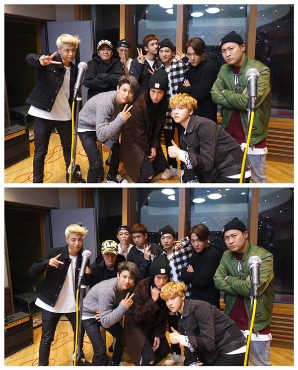 """Vừa mới ra mắt, iKon đã được """"anh cả"""" Epik High mời đến tham gia chương trình radio giới thiệu ca khúc mới của nhóm."""