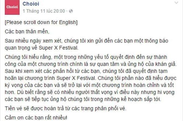 Lời xin lỗi trên fanpage chính thứccủa BTC không nhận được sự ủng hộ từ phía công chúng - Tin sao Viet - Tin tuc sao Viet - Scandal sao Viet - Tin tuc cua Sao - Tin cua Sao