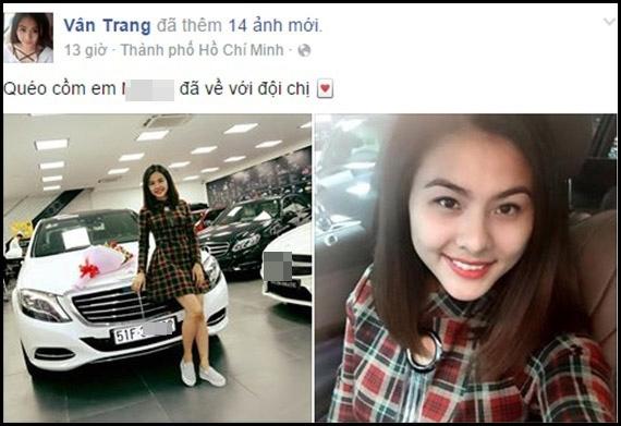 Vân Trang bày tỏ sự sung sướng khi được tậu xe mới. - Tin sao Viet - Tin tuc sao Viet - Scandal sao Viet - Tin tuc cua Sao - Tin cua Sao
