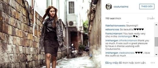 Fashionista nổi tiếng của Singapore là Edison Cross cũng khen ngợi Khả Ngân hết lời. - Tin sao Viet - Tin tuc sao Viet - Scandal sao Viet - Tin tuc cua Sao - Tin cua Sao