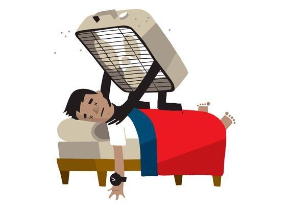 Người Hàn Quốc cho rằng, nếu ngủ trong một căn phòng kín và nằm ngay trước quạt, con người có thể đột tử do hạ thân nhiệt. (Ảnh: Internet)