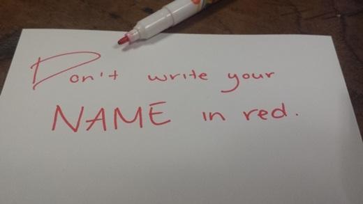 Viết tên người khác bằng mực đỏ là một điều tuyệt đối cấm kị ở xứsở kim chi.(Ảnh: Internet)