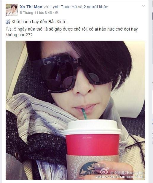 Trên fanpage chính thức của Xa Thi Mạn tại Việt Nam, người hâm mộ đang nôn nao để được chào đón thần tượng vào ngày 11/11 tới với khá nhiều post thông tin, comment.