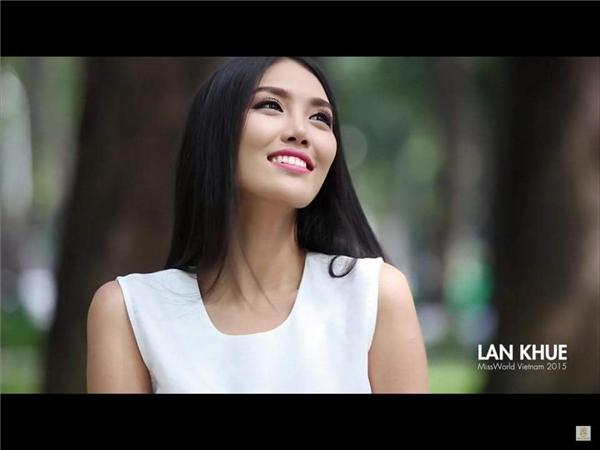 Hình ảnh của Lan Khuê trong video giới thiệu.