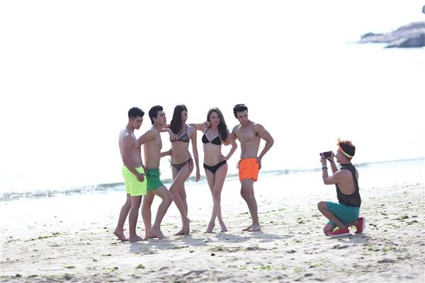 Dàn hot boy, hot girl tự tin khoe dáng chuẩn trên bãi biển. - Tin sao Viet - Tin tuc sao Viet - Scandal sao Viet - Tin tuc cua Sao - Tin cua Sao