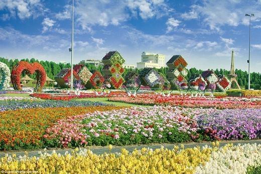 """...và cả vườn hoa giữa sa mạc là những công trình """"chơi trội"""" của Dubai. (Ảnh: Internet)"""