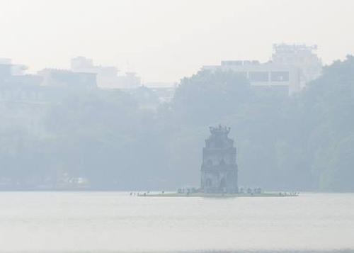 Hà Nội chìm trong sương mù sáng nay. Ảnh: Internet