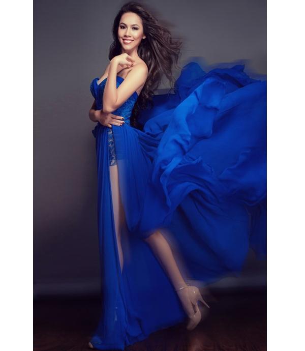 Bộ váy của Hoàng My tại Hoa hậu Thế giới 2012 nhận được nhiều lời khen bởi sự hòa hợp giữa chất liệu, tông màu. Tuy nhiên tại cuộc thi này, may mắn đã không mỉm cười với Hoàng My.
