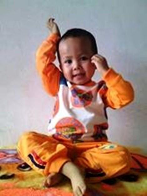 Bé Vương - con trai anh Huynh bị mất tích bí ẩn. Ảnh: GĐCC