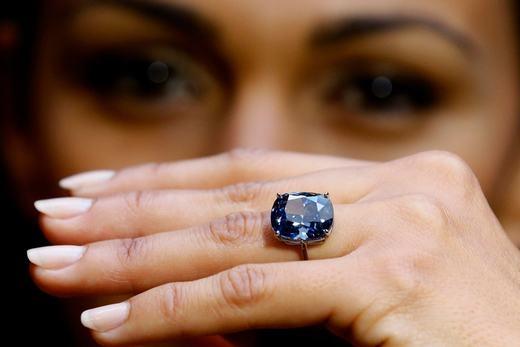 Còn đây là viên kim cương được mệnh danh là Mặt trăng xanh. (Ảnh: Internet)