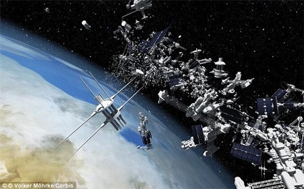 Mảnh vỡ có thể là một bộ phận của tàu vũ trụ. (Ảnh: Internet)