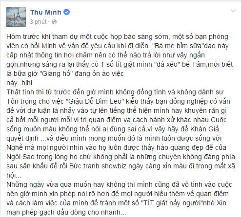Thu Minh bức xúc phản đối những người giậu đổ bìm leo vụ Mỹ Tâm - Tin sao Viet - Tin tuc sao Viet - Scandal sao Viet - Tin tuc cua Sao - Tin cua Sao