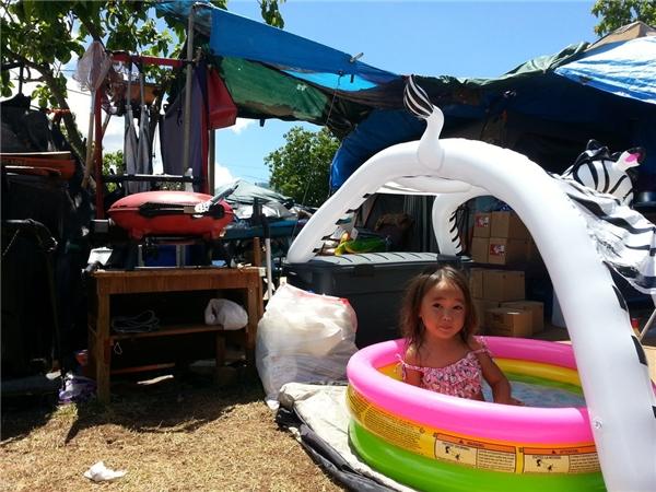 Hawaii có tỉ lệ người vô gia cư bình quân đầu người cao nhất nước Mỹ, cứ mỗi 100.000 người lại có 465 người vô gia cư.(Ảnh: Rex Moribe)