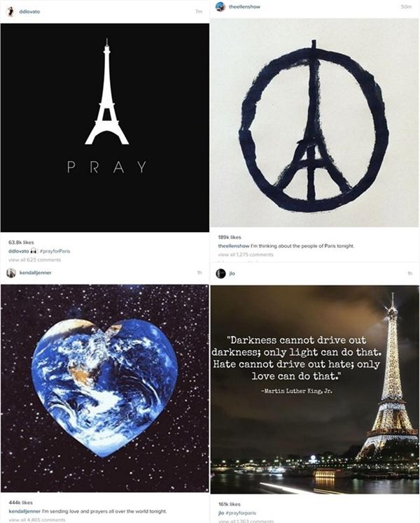 Sao thế giới bàng hoàng về vụ khủng bố Paris