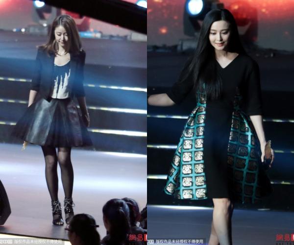 Hai ngươi đẹp đều chọn trang phục tối màu khi dự sự kiện vừa qua.