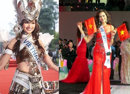 Đỉnh cao sự nghiệp của Trúc Diễm không thể không nhắc đến đó chính là top 15 Hoa hậu Quốc tế 2011. - Tin sao Viet - Tin tuc sao Viet - Scandal sao Viet - Tin tuc cua Sao - Tin cua Sao