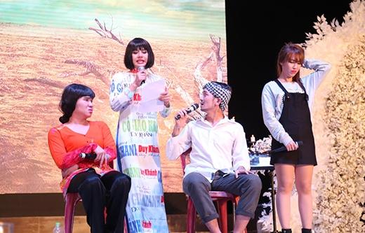 """Vở hài kịch """"Một nhà"""" được biểu diễn bởi Duy Khánh và các thành viên nhóm hài BB&BG: BB Trần, Tiến Công, Quỳnh Trân. - Tin sao Viet - Tin tuc sao Viet - Scandal sao Viet - Tin tuc cua Sao - Tin cua Sao"""