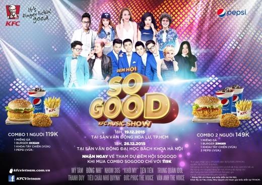 Thông tin ca sĩ khách mời và địa điểm tổ chức trên poster chính thức của chương trình.