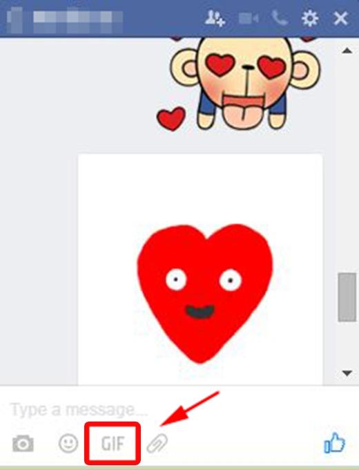 Nhấn vào biểu tượng GIF. (Ảnh: Internet)
