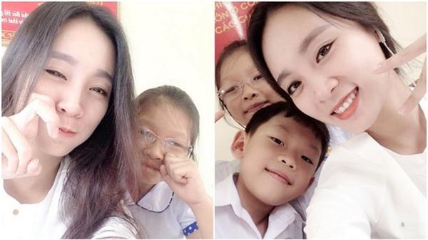 Cô giáo xinh đẹp này nhận được rất nhiều cảm tình, yêu mến của những em học sinh.(Ảnh: Internet)