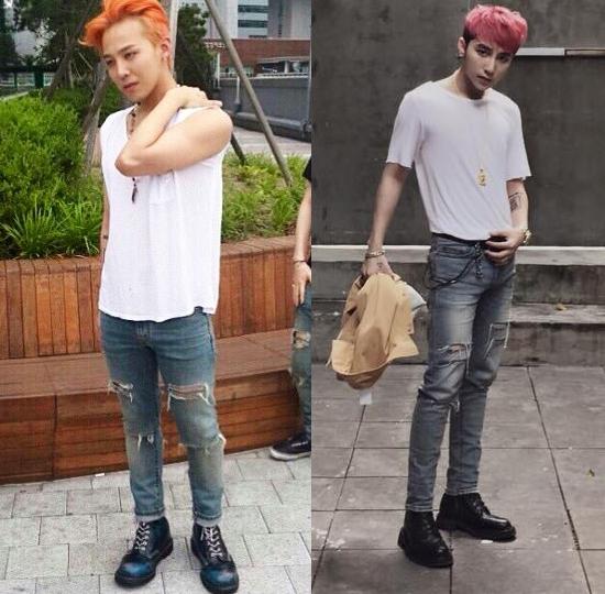 Khó có thể phân định được G-Dragon hay Sơn Tùng nổi trội hơn trong cùng phong cách trẻ trung, năng động này.