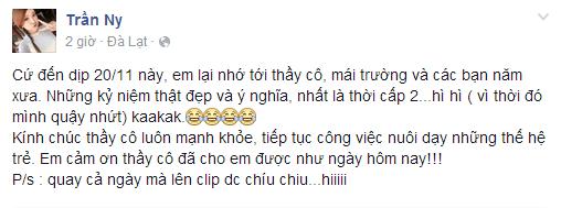 Hàng loạt sao Việt khác cũng bộc bạch tâm sự, gửi gắm lời cám ơn chân thành đến những người đứng trên bục giảng. - Tin sao Viet - Tin tuc sao Viet - Scandal sao Viet - Tin tuc cua Sao - Tin cua Sao