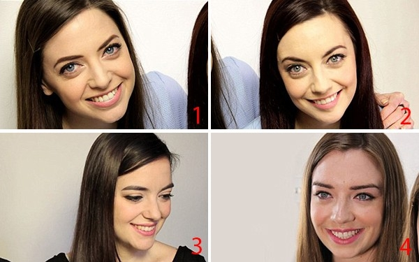 4 cô gái tình cờ có ngoại hình giống nhau: 1. Niamh; 2. Karen; 3. Luisa và 4. Irene.