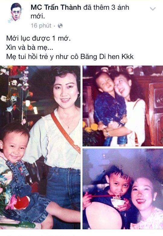 Trấn Thành hào hứng khoe ảnh mẹ ngày trẻ giống hệt… Băng Di - Tin sao Viet - Tin tuc sao Viet - Scandal sao Viet - Tin tuc cua Sao - Tin cua Sao