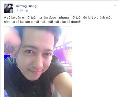 Fan tiếp tục hoang mang trước status đầy tâm trạng của Trường Giang - Tin sao Viet - Tin tuc sao Viet - Scandal sao Viet - Tin tuc cua Sao - Tin cua Sao
