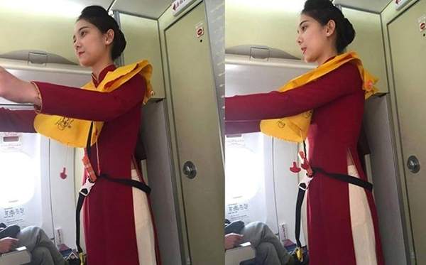 Bức ảnhMai Kabị hành khách chụp lén.(Ảnh: Internet)