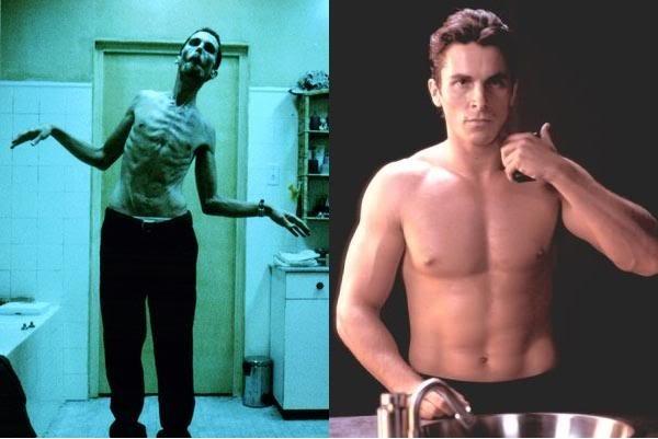Không những thế, trong bộ phim ra mắt sau đó chỉ một năm - Batman Begins(2005), Bale lại tăng cân bằng chế độ ăn uống mới và tập luyện 3 giờ mỗi ngày để có được thân hình lực lưỡng của siêu anh hùng Batman