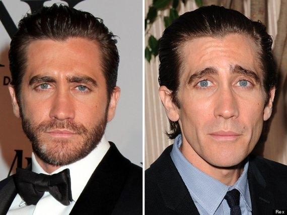 Ngôi sao điển trai Jake Gyllenhaal cũng giảm đến khoảng 9kg để nhập vai trong phim Nightcrawler. Nhìn bức hình mặt trơ xương, hốc hác sau khi giảm cân của anh, người hâm mộ suýt không thể nhận ra