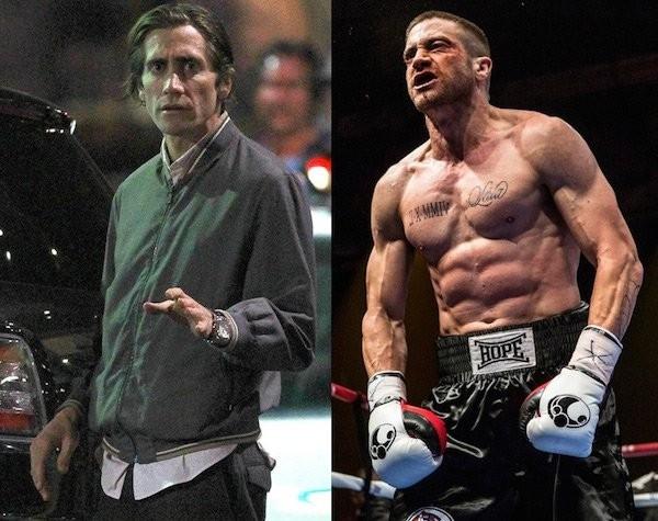 Đó là chưa kể sau đó, anh lại phải tiếp tục tăng cân để trở thành một võ sĩ quyền Anh cơ bắp cuồn cuộn trong phim Southpaw.