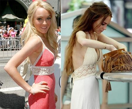Thân hình khẳng khiu đến khó tin của Lindsay Lohan một thời