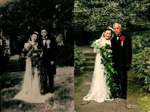 Tình yêu tuyệt đẹp của hai cụ dù trải qua 70 năm vẫn như ngày đầu, chưa hề thay đổi. (Ảnh: Internet)