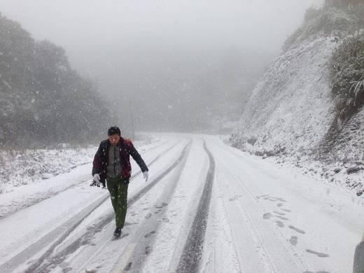 Hiện tượng tuyết rơi vào tháng 1/2015tại Sa Pa. Ảnh: Internet