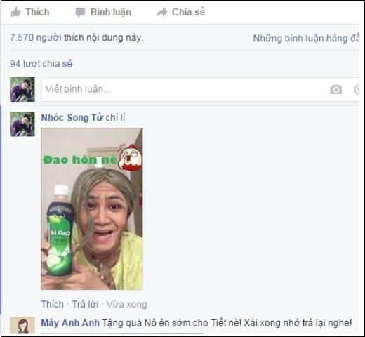 """Ngay lập tức, cộng đồng """"facebook-ers"""" đã hưởng ứng video """"selfie"""" của anh chàng và """"biến thể"""" thành nhiều """"cồm men"""" vui nhộn."""