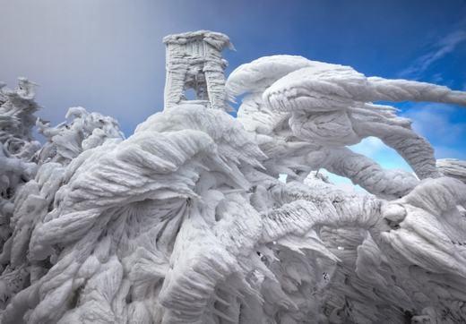 Băng tuyết ở Slovenia. (Ảnh: Internet)