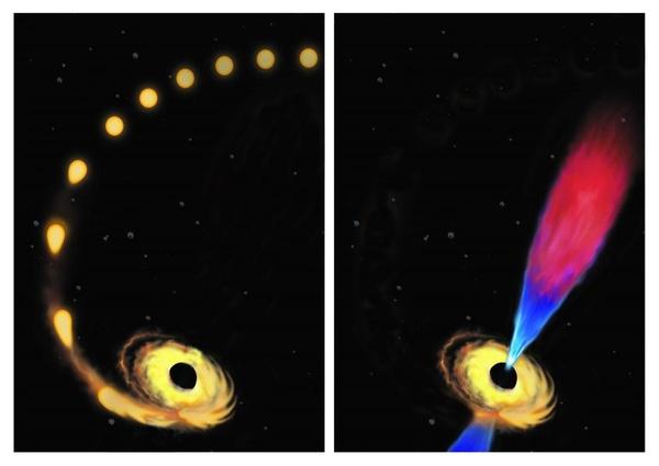 Chúng nuốt nhiều ngôi sao và tỏa ra các tia sáng lạ sau đó. (Ảnh: Internet)