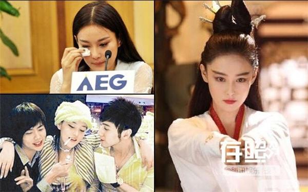 (Ảnh bên trái: Trương Hinh Dư khóc lóc sau khi bị lật tẩy nghề nghiệp quá khứ, ảnh phải cho thấy dù chê đàn chị họ Phạm nhưng cô ngày càng giống Băng Băng).