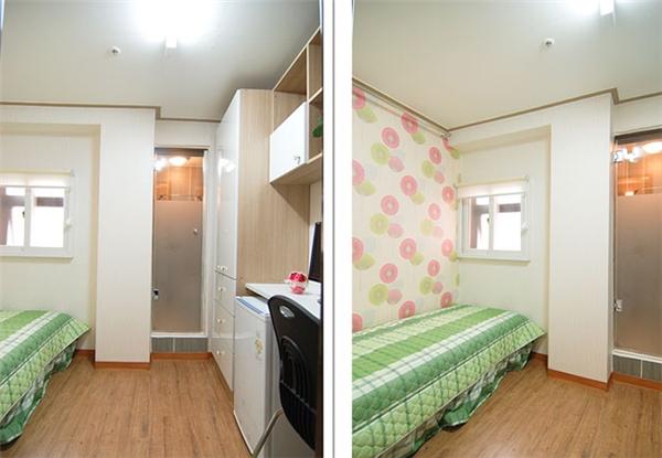 Do đó, đã có rất nhiều ý tưởng được đưa ra để giảm thiểu chi phínày, trong đó có phòng trọ siêu nhỏ, hay còn gọi là goshiwon. (Ảnh: Internet)