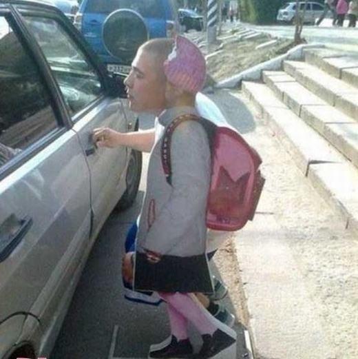 """""""Bé 30 tuổi"""" đi học! (Ảnh: Internet)"""