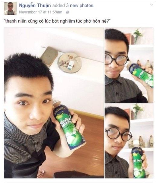 """Bạn xì-tin boy Nguyễn Thuận tự khẳng định: """"Thanh niên cũng có lúc bớt nghiêm túc phớ hôn nè?"""""""