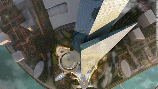 Tuy là mộtcon số cực lớn nhưng vẫnchưa bằng Burj Khalifa khi tòa nhà nàyđã mất tới 1,5 tỉ USD (khoảng 34.000 tỉ đồng)để xây dựng. (Ảnh: CNN)
