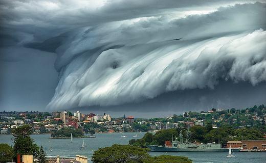 """Hiện tượng """"mây sóng thần"""". (Ảnh: Internet)"""