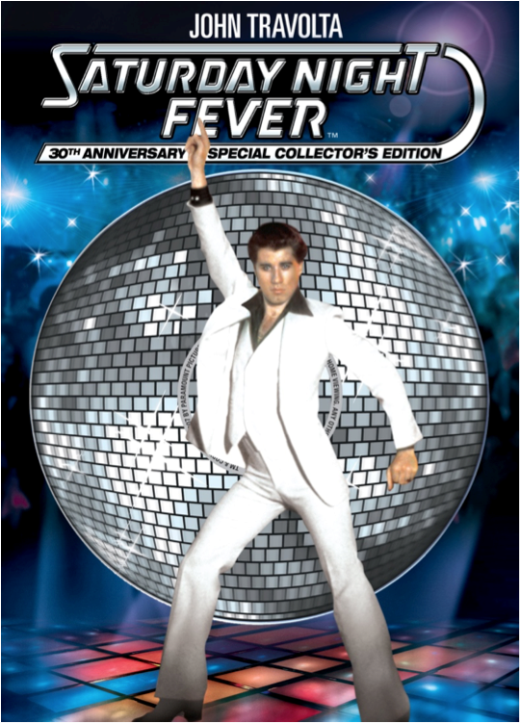 Poster bộ phim Saturday Night Fever.