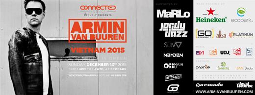 Poster sự kiện Tommorow Green của Armin tại Hà Nội.