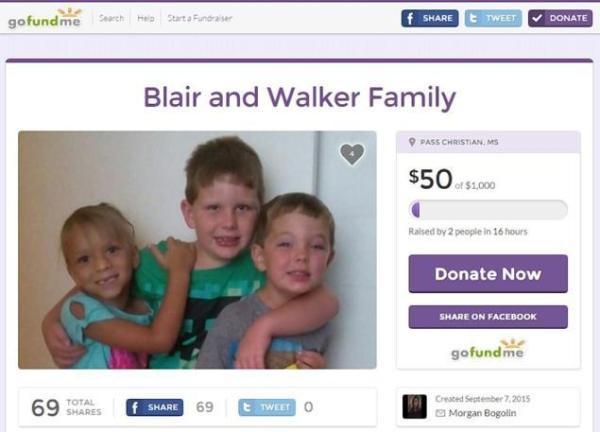 Trang gây quỹ cứu giúp gia đình của cậu bé 4 tuổi.