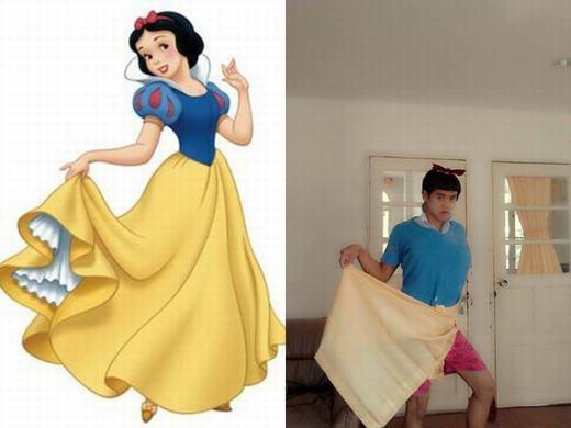 Cũng vén váy như ai nhé! (Ảnh: Internet)